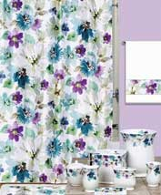 Creative Bath Bouquet shower curtains and ceramic accessories