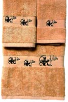 Kellsson Linens Embroidered Towels - Black Bear Lodge Collection- Champagne